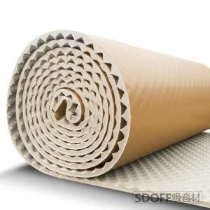 SDOFF 吸音材防音材防音シート 遮音シート壁 5M 大面積 85cm×500cm ロール波型/ブラック裏面が粘着テープ付きなのでカットして簡単貼り gemselect