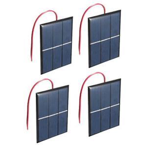 NUZAMAS 4組 1.5V 0.65W ソーラーパネル専門屋出品 超薄型軽量 携帯型 多結晶フレキシブル ソーラーパネル DIY モジュール gemselect