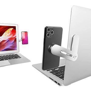 Elim's Choice スマホスタンド 携帯電話ホルダー デスクトップモニターとラップトップモニターの両方に適合 デュアルスクリーンディスプレイ|gemselect