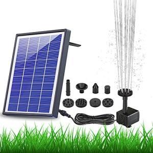 ソーラーポンプ AISITIN ソーラー噴水ポンプ10v 6.5w ガーデン用噴水 丸型太陽噴水ポンプ 屋外 太陽光充電 1500mAhバッテリー付き gemselect