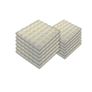 Heavyoff 吸音材 消音 騒音 防音 ウレタン ピラミッド 壁 難燃 吸音対策 白い, 12個 300×300mm 厚さ25mm gemselect