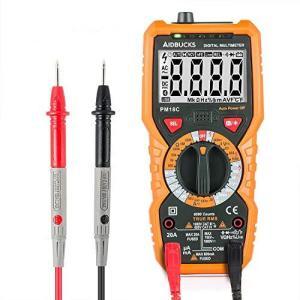 AIDBUCKS PM18C デジタルマルチメーター 電流 電圧 抵抗テスター 温度計 周波数 テスター デジタル 交流 gemselect