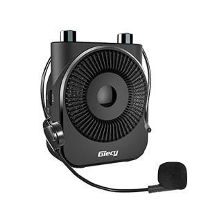 Giecy 拡声器 ポータブル小型メガホン 20W 2600mah充電式バッテリー PAシステム 拡声器 ハンズフリー、教師、ツアーガイド、ホスト、街 gemselect