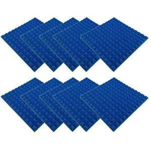 Urhomy ピラミッド吸音綿 ピラミッドスポンジ アコースティックフォーム 壁スポンジパネル 防音・吸音材 難燃剤 遮音綿 環境保護 高密度 難燃性 gemselect
