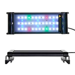 szbritelight アクアリウム 2色LEDライト 水槽ライト 30~50CM対応 省エネ 7.5W 水槽照明 観賞魚飼育 水草育成 42LED gemselect