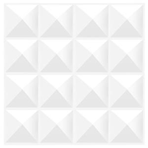 TroyStudio 音響拡散パネル - 音響パネル 4枚セット, 3Dウォールパネル 30cm X 30cm X 2.5cm (ホワイト) gemselect