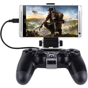 PS4コントローラー用スマホマウントホルダー,thsgrt【270度回転】PS4用コントローラクリップ スマホ固定ホルダ Android|gemselect