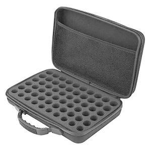 Salinr エッセンシャルオイル 収納ケース 精油 収納バッグ 60本用 15ml アロマオイル 収納ボックス アロマポーチ  携帯用(01)|gemselect