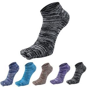 [インソミラ] InSomila 5本指 靴下 ソックス 5色セット くるぶし丈 蒸れない メンズ レディース 吸汗 25-27cm gemselect
