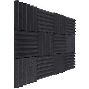 吸音材 防音材 ポリウレタン 25cm*25cm*5cm(24枚入,ブラック)防音 吸音 耐火防音 消音 騒音 吸音材質 吸音対策 室内装飾 楽器 音 gemselect