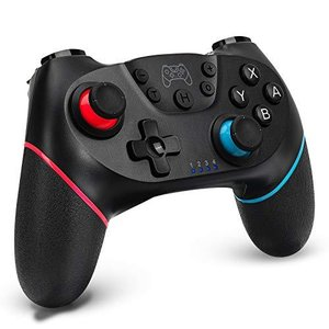Switch コントローラー 無線 Switch Pro コントローラー HD振動 小型6軸 ジャイロセンサー搭載 スイッチ コントローラー Blue|gemselect