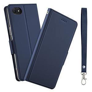 iPhone SE ケース 第2世代 手帳型 薄型  (iPhone SE 第2世代 (2020) / 8 / 7, ネイビー) 手帳型ケース ストラ|gemselect
