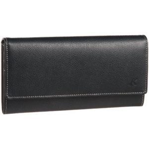 [キタムラ] 長財布 キズが目立ちにくい素材 PH0331 ダークブルー/アイボリーステッチ [紺] 10911|gemselect
