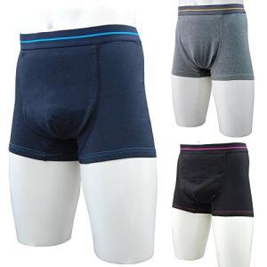 3枚組 スマートボクサーパンツ 尿漏れパンツ 失禁パンツ 吸水パンツ 男性用 メンズ用 下着 介護パンツ パッド 前開き 消臭 TJI-471a (L|gemselect
