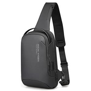 MARK RYDEN ボディバッグ メンズ 斜めがけ ショルダーバッグ 大容量 防水 USBポート付き ワンショルダー 軽量 iPad収納可能|gemselect
