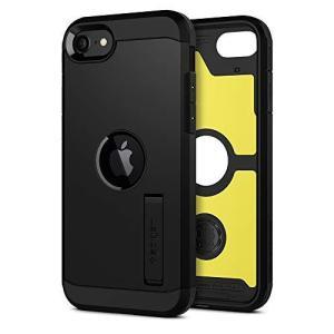 【Spigen】 iPhone SE ケース (ブラック)[第2世代] スタンド付き 米軍MIL規格取得 耐衝撃 三層構造 スマホスタンド カメラ保護|gemselect