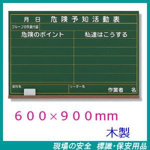 危険予知活動表 KYボード 600×900mm 木製 320-04A|genba-anzen