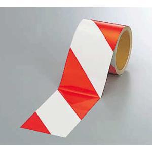 反射トラテープ 374-12 90mm巾×10m巻 赤白 genba-anzen