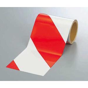 反射トラテープ 374-13 150mm巾×10m巻 赤白 genba-anzen