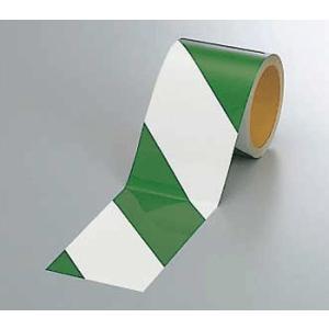 反射トラテープ 374-15 90mm巾×10m巻 緑白 genba-anzen
