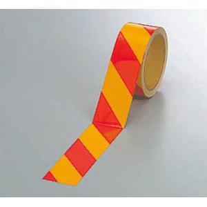 反射トラテープ 374-17 45mm巾×10m巻 赤黄 genba-anzen