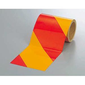 反射トラテープ 374-19 150mm巾×10m巻 赤黄 genba-anzen
