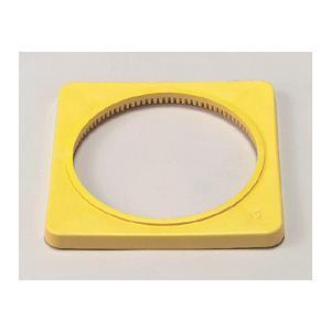 カラーコーン用ウェイト385−42 黄色 1.5kg|genba-anzen