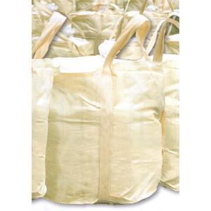 コンテナバッグ 丸型 10枚入り大型1t土のう袋 フタ付(コンテナバック・フレコンバッグ・フレコンバック)|genba-anzen