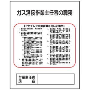 ガス溶接作業主任者の職務J15 500×400 genba-anzen