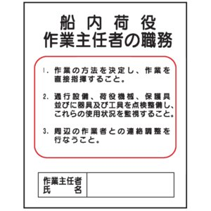 船内荷役作業主任者の職務J16 500×400 genba-anzen