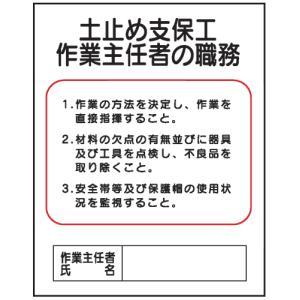 土止め支保工作業主任者の職務 J2 500×400 genba-anzen