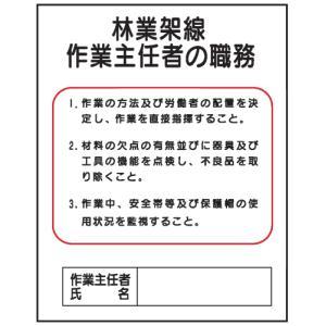 林業架線作業主任者の職務J23 500×400 genba-anzen