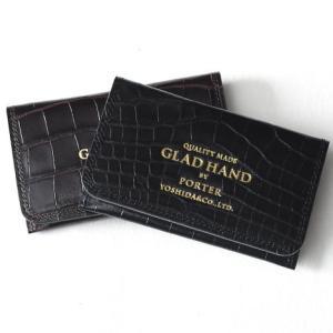 GLAD HAND グラッド ハンド ポーター カードケース クロコ型押し 送料無料 PORTER CARD CASE CROCOLIKE|genba