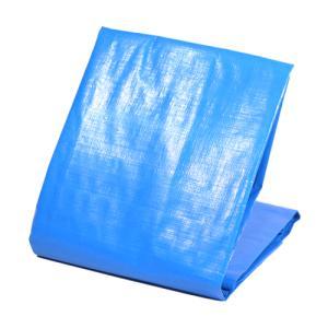ブルーシート 厚手 #4000 1.8x1.8 実寸 1.7x1.7 ブルー ハトメ付 屋外 防水 ...
