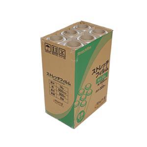 ストレッチフィルム 14ミクロン 500x300m 6巻入り 1箱 ラップ 梱包用 手巻き ポリエチレン製 3インチ紙管|genbaichiba