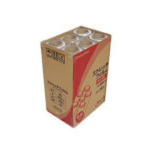 ストレッチフィルム 18ミクロン 500x300m 6巻入り 1箱 ラップ 厚手 梱包用 手巻き ポリエチレン製 3インチ紙管|genbaichiba