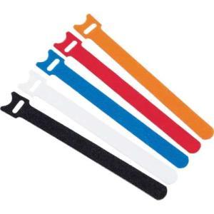 TRUSCO マジックバンド 超薄型 ストラップ 15cm 黒 (5本入)|genbaichiba