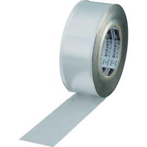 TRUSCO スーパーアルミ箔粘着テープ ツヤなし 幅50mmX長さ50m|genbaichiba