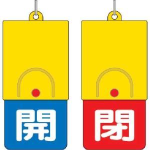 ユニット 回転式両面表示板 白文字:開青地 閉赤地 101×48|genbaichiba