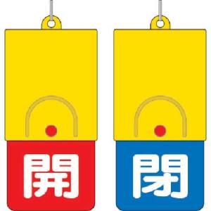 ユニット 回転式両面表示板 白文字:開赤地 閉青地 101×48|genbaichiba