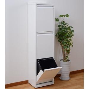 ダストボックス 3分別 薄型 スチール製 キッチン ゴミ箱 sei-ds-77  /雑貨/|genco1|02