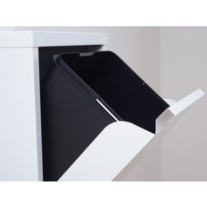 ダストボックス 3分別 薄型 スチール製 キッチン ゴミ箱 sei-ds-77  /雑貨/|genco1|04