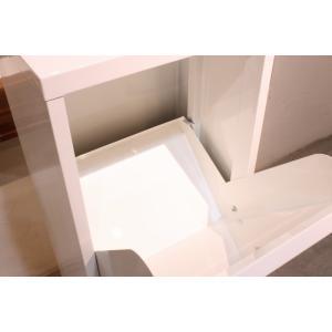 ダストボックス 3分別 薄型 スチール製 キッチン ゴミ箱 sei-ds-77  /雑貨/|genco1|09