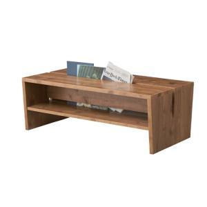 マガジンラックテーブル ナチュラル az-le-300na  /収納/ラック/棚/突っ張り/ツッパリ/木製/段/アクリル/ガラス/木製/段/天板/|genco1