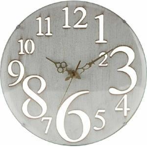 壁掛け時計 レトロ ホワイト fj-56920 genco1