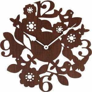 壁掛け時計 フォレスト ブラウン fj-56922  /時計/壁掛け/置き/目覚まし/Clock/デジタル/アナログ/|genco1