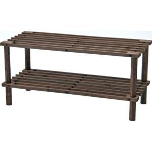 マルチフリー・シューズラック2段 ブラウン ZSJ05064−A ブラウン fj-79101  /収納/ラック/棚/突っ張り/ツッパリ/木製/段/アクリル/ガラス/木製/|genco1