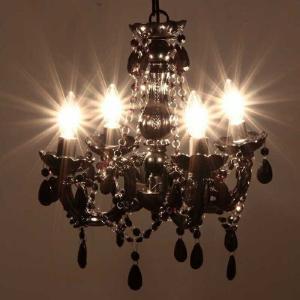 シャンデリア4灯 BS284−348 ブラック fj-94449  /照明/ライト/電気/リビング/ダイニング/寝室/|genco1
