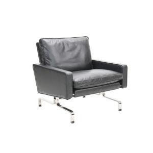 [サイズ]W760 D740 H760・約33kg [素材]本革、ステンレス(ヘアライン仕上げ)、ウ...