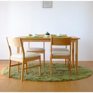 ダイニング5点セット ナチュラル ERIS-2 125 DINING 5SET ise-3414222s1  /テーブル/Table/天板/ genco1
